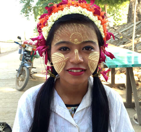 Myanmar Girl Facepaint