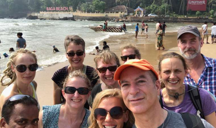 Mission Rabies Goa Team on the Beach