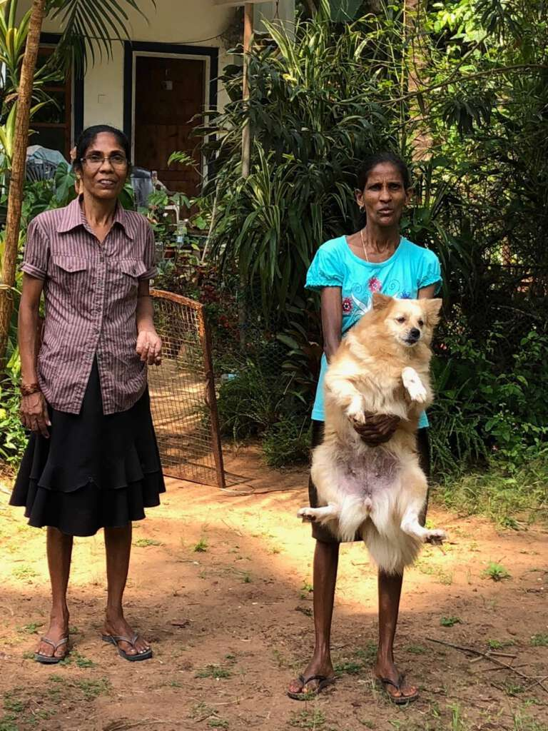 Residents of Goa present their doggie for a rabies vaccination - Mission Rabies Goa India